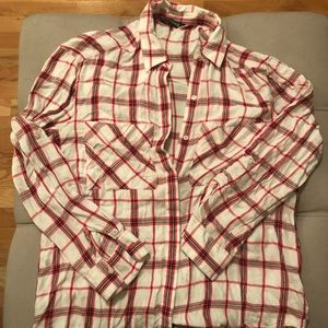 Express flannel pattern blouse
